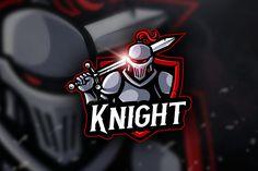 Knight - Mascot & Esport Logo by AQR Studio on Wolf Warriors, Warrior Logo, Knight Logo, Esports Logo, Black Cartoon, Business Powerpoint Presentation, Game Logo, Cs Go, Creative Logo