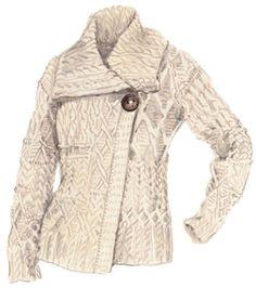 Irish Knitwear - Donegal Sweater Coat - Made in Ireland. Love it ...