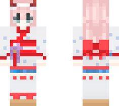 Kimono Minecraft Skins Zero Two Minecraft Skin Minecraft