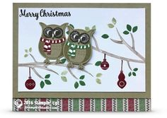 CARD: Cozy Critters Owl Christmas Card | Stampin Up Demonstrator - Tami White - Stamp With Tami Crafting and Card-Making Stampin Up blog