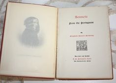 Sonnets from the Portugese, by Elizabeth Barret Browning, printed 1908 ~ one of the most beautiful collections of love poems ever written! Elizabeth Barrett, Portuguese Culture, Poems Beautiful, Folk Music, Love Poems, Browning, Writings, French Antiques, Love Story