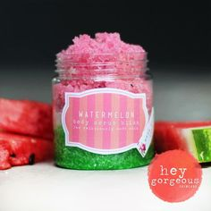 This gorgeous Watermelon Scrub not only smells fabulous but is chockablock full of oils that are so beneficial for your skin. It's gentle polishing action buffs off old skin cells, blemishes and impurities to leave your skin deliciously soft and supple
