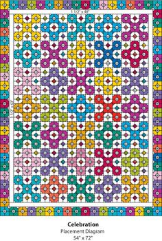 Celebration: A very bright and easy FQ or scrap quilt.  :)