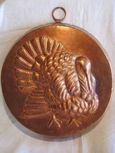 Copper Mold w Raised Turkey Design Vintage Copper Over Tin Antique | eBay