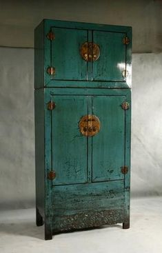 Painted Asian Chinese furniture cabinet