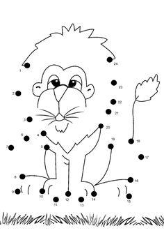 free online printable kids games lion dot to dot - Free Printables Kids