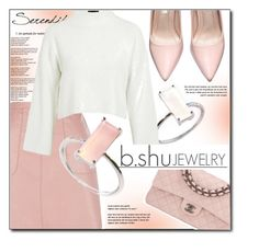 """""""BSHUJEWELRY.com"""" by monmondefou ❤ liked on Polyvore featuring Topshop, Chanel, Børn and bshujewelry"""