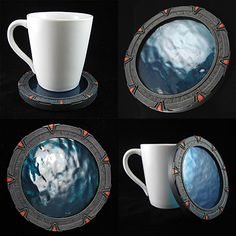 Stargate coasters... the coolest coasters ever!