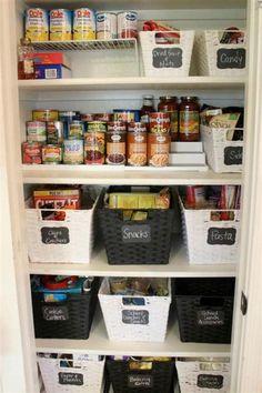 Home Interior Cuadros DIY Kitchen Organization Ideas Small Pantry Organization, Kitchen Cabinet Organization, Pantry Storage, Organization Ideas, Storage Ideas, Kitchen Organizers, Cabinet Ideas, Pantry Closet, Storage Organizers