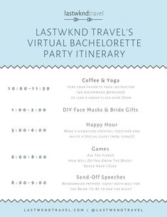 Here are some ideas for how to plan the perfect virtual bachelorette party during a time of social distancing, including a one-day virtual bachelorette party itinerary. Bachelorette Itinerary, Bachelorette Party Planning, Bachelorette Party Invitations, Bridal Shower Invitations, Wedding Humor, Wedding Tips, Wedding Reception, Wedding Stuff, Bridal Shower Games
