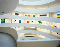 """My forms are geometric, but they don't interact in a geometric sense. They're just forms that exist everywhere, even if you don't see them""—artist Ellsworth Kelly born today in 1923. In his work Kelly abstracts the forms in his paintings from observations of the real world, such as shadows cast by trees or the spaces between architectural elements. In 1996 the Guggenheim hosted his career retrospective, which filled our rotunda with color.  __ Photo: David Heald #Guggenheim…"