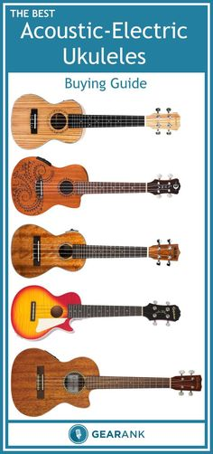 Guide to the Best Acoustic Electric Ukuleles.  If you're looking to buy a ukulele to use on stage then this guide will tell you what you need to know, including a list of the highest rated options on the market, to help you decide which one to get.