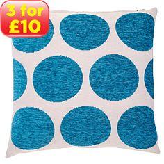 ASDA Spot Cushion - Blue