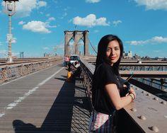 — in brooklyn bridge, ny Gabbi Garcia Instagram, Marian Rivera, Nadine Lustre, Photography 101, Filipina, Travel Goals, Brooklyn Bridge, Gin, Homeschool