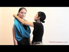 ▶ How To Wear A Shawl  or scarf  - 10 Stylist Suggestions - YouTube