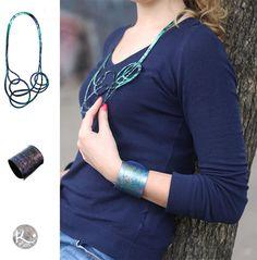 Combinación de azul! Pulsera y Collar de Fusion diseñados en Käira by Ruth Schaffer. Collar, Belt, Fashion, Blue Nails, Bracelet, Accessories, Belts, Moda, Fashion Styles