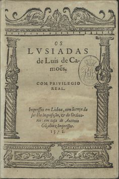 """TIL """"Os Lusíadas"""" a Portuguese epic poem written by Luís Vaz de Camões. It has 1102 stanzas all in ottava rima and with the same rhyme scheme. Additionally all of its 8816 lines of verse have the same number of syllables Books To Read, My Books, Get In The Mood, Old Letters, Sad Heart, English Reading, Destin, Chef D Oeuvre, Old Paper"""