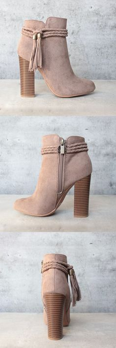 vegan suede 'enchanted' tassel detail bootie - more colors - shophearts - 1