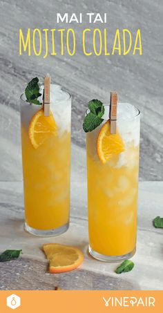 This cocktail is the perfect mashup of a Mojito, a Piña Colada and a Mai Tai! Get the recipe now!
