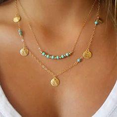 Turquoise beads chain