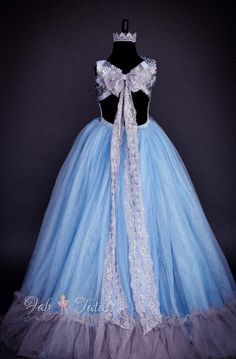 "FabTutus | Products | Flower Girl Dress | ""Andrea"" Dress - Something Blue Collection"
