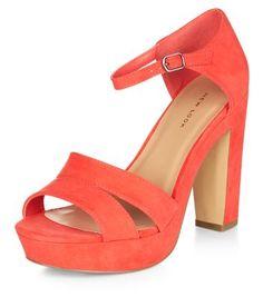 - Open toe design- Platform style- Heel height: 4.5