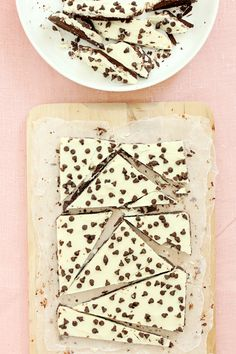 Chocolate Chip Cookie Dough Bark. YUM!