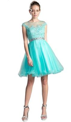 Have a look at this cinderella divine cocktail ruffle dress with ice blue color from couture candy. Cocktail Dresses With Sleeves, V Neck Cocktail Dress, Turquoise Homecoming Dresses, Prom Dresses Online, Grad Dresses, Blue Dresses, V Neck Wedding Dress, Elegant Dresses, Unique Dresses
