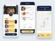 Food Delivery App - by Liu Chia Hua Grocery List App, Grocery Store, Appetizer Salads, Appetizers, Tiramisu Cups, Android Ui, Delivery App, App Design Inspiration, Spicy Sauce