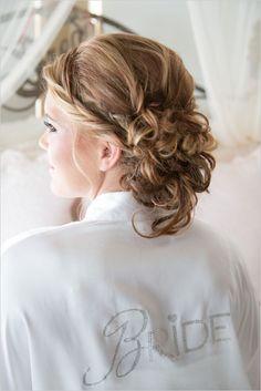 glamorous wedding hair