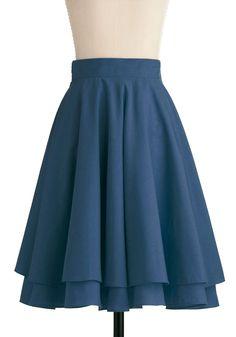 Effortless is More Skirt in Blue | Mod Retro Vintage Skirts | ModCloth.com