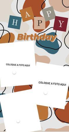 Happy Birthday Template, Happy Birthday Frame, Happy Birthday Posters, Happy Birthday Wallpaper, Birthday Posts, Birthday Collage, Creative Instagram Photo Ideas, Instagram Photo Editing, Instagram And Snapchat