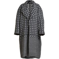 Haider Ackermann Women's Bryson Coat (€1.465) ❤ liked on Polyvore featuring outerwear, coats, jackets, coats & jackets, neutral, asymmetrical coat, haider ackermann, print coat, lapel coat and oversized lapel coat