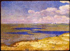 The Athenaeum - View of the River Scheldt, 1893 (Theo van Rysselberghe - )