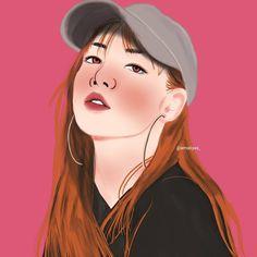 Blackpink Lisa, Artist At Work, Fan Art, Drawings, Anime, Artists, Instagram, Sketches, Cartoon Movies