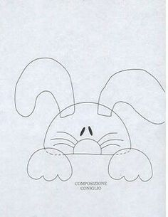 Peeking rabbit