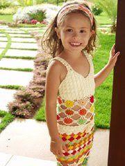 TRICO y CROCHET-madona-mía: Conjuntos para niñas en crochet con padrón