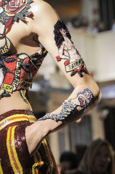 Hello sailor! Margiela reimagines old-school tattoos | Never Underdressed