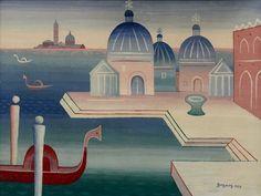 Jan Zrzavý - Venice. #art #Czechia #painting