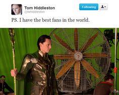 Tom Hiddleston makes a funny
