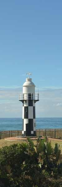 The Port Shepstone lighthouse on the southern bank of the Umzimkulu River.