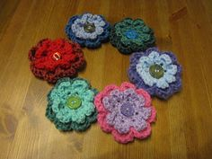 As promised last week I'm posting up the pattern for my crochet flower brooches. They are very simple to make and depending on the yarn and ...