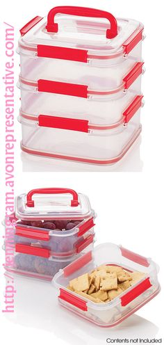 On-the-Go Stackable Food Container Set  624-880 Reg. $16.99 Life's a picnic