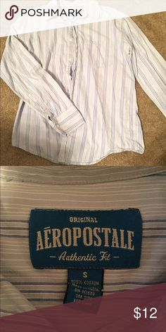 Men's Aeropostale Button up long sleeve💙💚 Like new! He only wore it once to a wedding rehearsal. Make me an offer! 😘 Aeropostale Shirts Dress Shirts