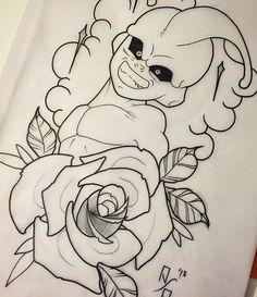 Coming soon.... #tattoo #tattoos #tattooart #tatuaggio #tatuaje #dragonball #dragonballtattoo #kidbuu #kidbuutattoo #majinbuu #majinbuutattoo #rose #newschool #sketch #draw #dbz #torino #turin #torinotattoo #mangatattoo