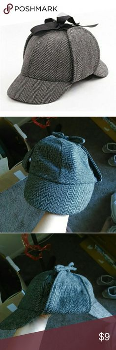 Sherlock detective hat A Halloween or cosplay detective hat. It's in great quality and good for male and female.  Tags: cosplay, Sherlock Holmes, Halloween, detective elope Accessories Hats