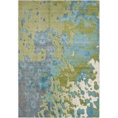 Found it at AllModern - Aberdine Teal/Lime Area Rug