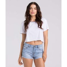 Billabong Women's Highside Denim Shorts ($50) ❤ liked on Polyvore featuring shorts, blue tide, walkshorts, jean shorts, high-waisted shorts, distressed denim shorts, distressed high waisted shorts and short jean shorts