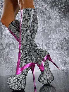 "Snakeskin? Pink & Grey? 6"" stiletto heel? Umm YES PLEASE!!!!   ♥♥♥♥♥♥♥"