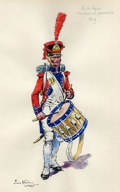 French; 30th Line Infantry, grenadier Drummer 1809 by Pierre Albert Leroux